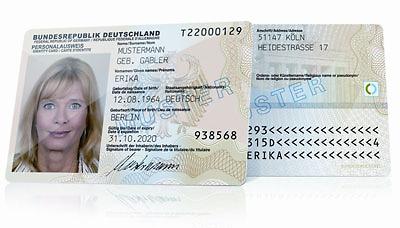 Personalausweis - Muster (© Bundesdruckerei Berlin)